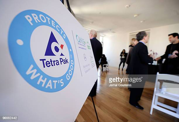 Scene at the press conference hosted by Tetra Pak to announce the Carbon Neutral Initiative For Mercedes Benz Fashion Week at The Loft at the Bryant...
