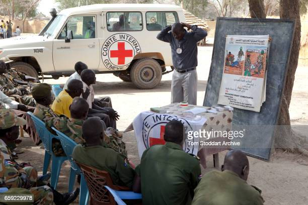 A scene during an International Committee of the Red Cross information and dissemination session with SPLA soldiers from Warrab state Leading the...