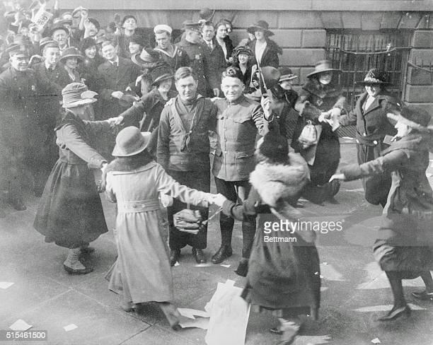 Scene during peace celebration