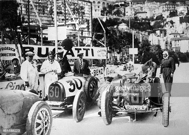 Scene during practice for the Monaco Grand Prix 1929 Competitors with their cars during practice for the inaugural Grand Prix at the famous street...