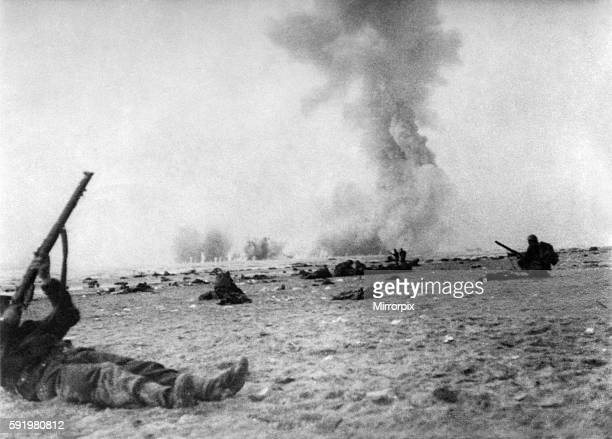 Scene during the battle at Dunkirk in Northern France after British troops had become trapped and were encircled by the German army June 1940 P009399