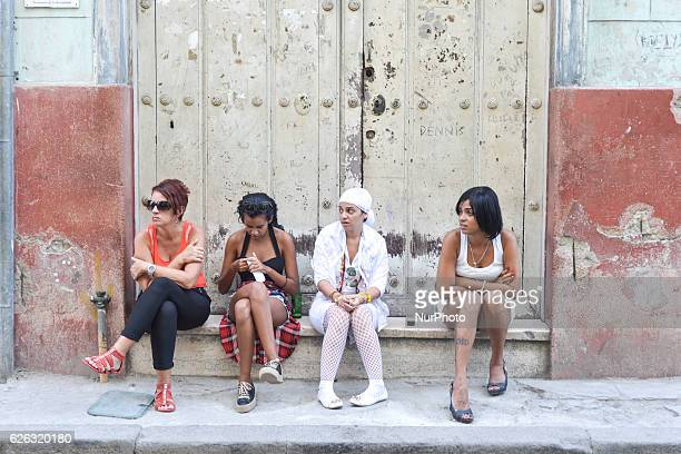 A scene from a daily life in Havana on November 26 the next day after Fidel Castro Cuba's historic revolutionary leader and the former Prime Minister...