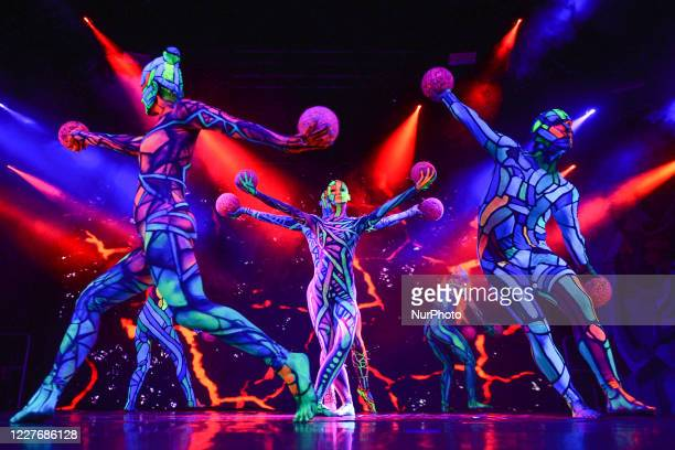 Scene from a new multimedia dance show inspired by the artworks of Stanisaw Wyspianski 'Apollo chained' performed by Art Color Ballet at the Forty...