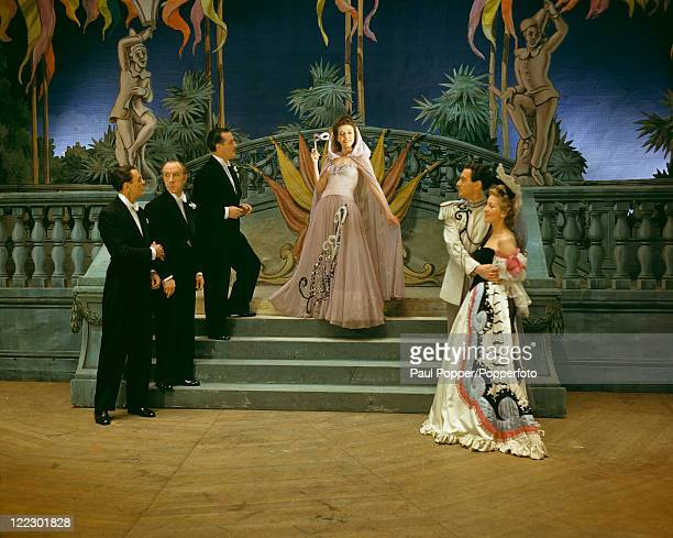 Scene from a revival of Charles Cuvillier's operetta 'The Lilac Domino' at His Majesty's Theatre, London, March 1944. Original publication -...