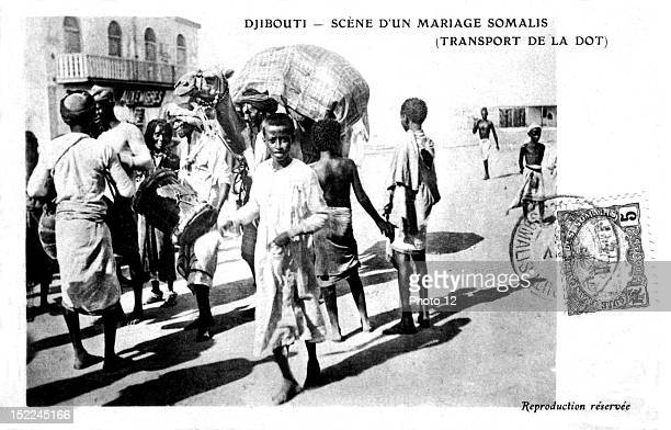 Scene from a wedding in Somalia transporting the dowry Djibouti Private Collection