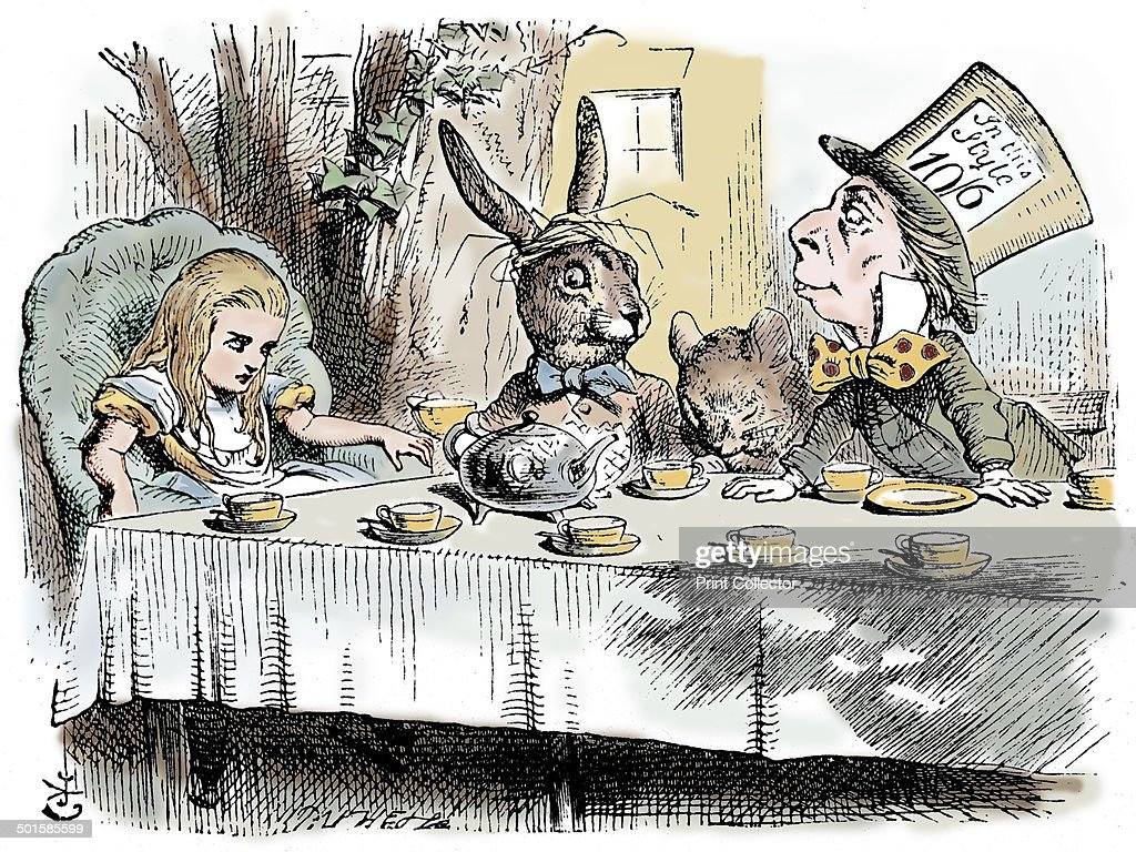 Scene From Alices Adventures In Wonderland By Lewis Carroll 1865 The Mad Hatters Teaparty