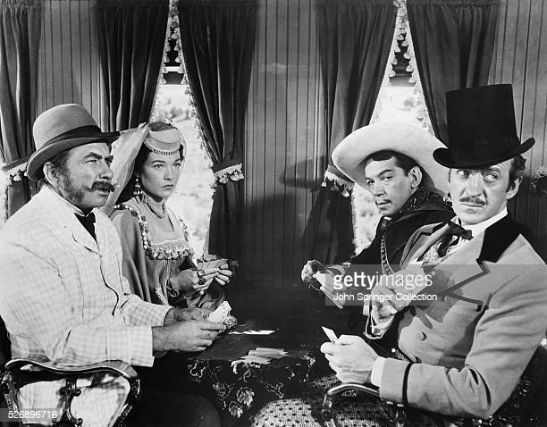 A scene from Around the World in Eighty Days The film stars Edmund Lowe Shirley MacLaine Cantinflas and David Niven