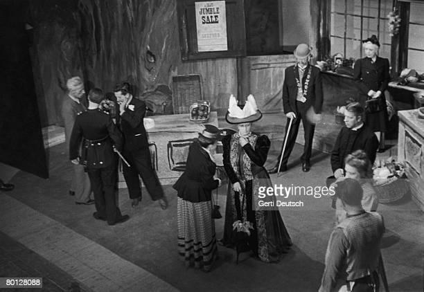 A scene from Benjamin Britten's comic opera 'Albert Herring' at Glyndebourne 5th July 1947 Original Publication Picture Post 4395 Benjamin Britten...