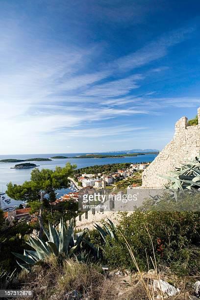 Szene von castle auf der Insel Hvar
