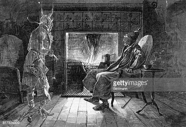 Scene from Charles Dickens' A Christmas Carol