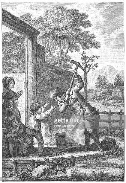 Scene from Confessions by JeanJacques Rousseau 17821789 The destruction of the aquaduct an incident in Confessions by JeamJacques Rousseau