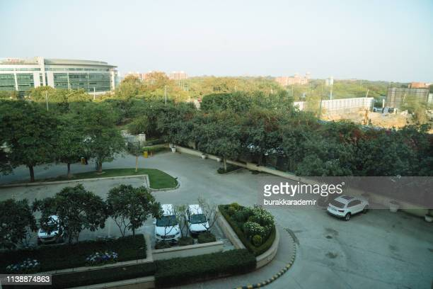 scene from grand delhi hotel's room in delhi, india. - new delhi stock pictures, royalty-free photos & images