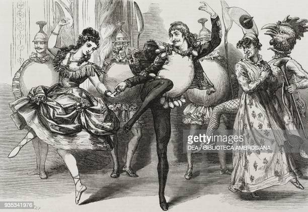 Scene from Harlequin Humpty Dumpty at the Lyceum Theatre London United Kingdom illustration from the magazine The Illustrated London News volume LIV...