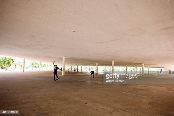 A scene from Ibirapuera Park in Sao Paulo Brazil.