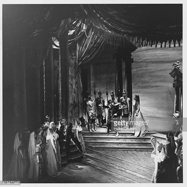 A scene from Idomeneo one of the four Mozart operas being performed during the 5 week season of the 1951 Glydebourne Festival