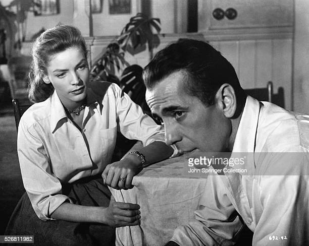 Scene from Key Largo starring Lauren Bacall and Humphrey Bogart