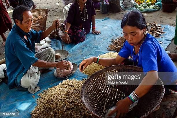 A scene from Lama bazaar in Lama Bandarban Bangladesh July 29 2010