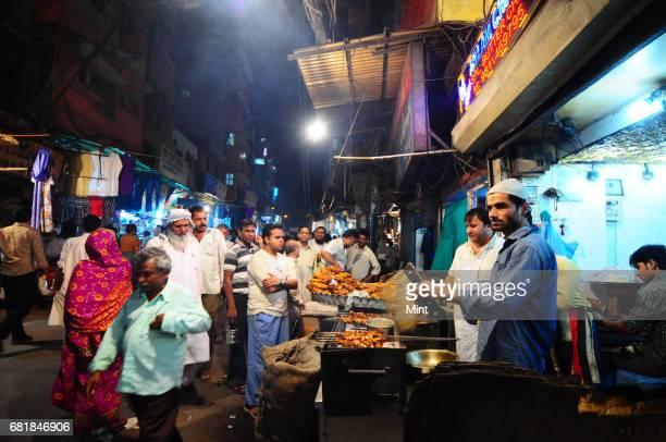 Scene from Matia Mahal Bazaar at Jama Masjid.