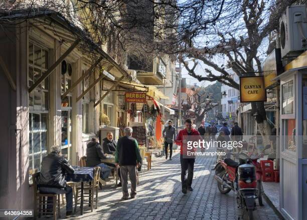 a scene from menemen town center. - emreturanphoto stock pictures, royalty-free photos & images