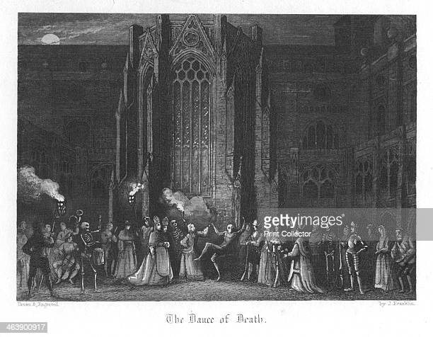 Scene from Old St Paul's by William Harrison Ainsworth 1855 The Earl of Rochester and his dissolute friends staging a Dance of Death at Saint Paul's...