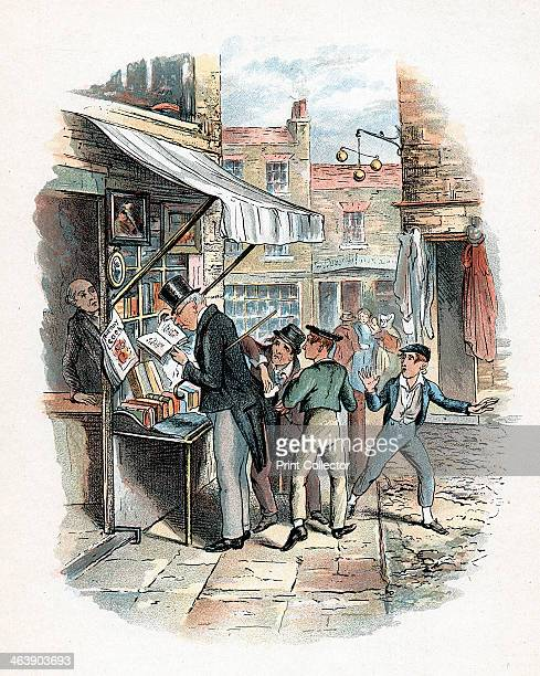 Scene from Oliver Twist by Charles Dickens 18371839 The Artful Dodger picking a pocket to the amazement of Oliver Twist Illustration from Oliver...