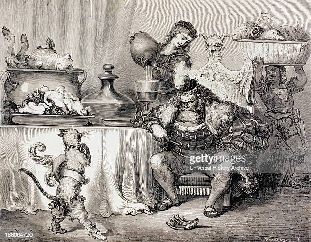 Scene From Puss In Boots By Charles Perrault Puss Meets The Ogre After A Work By Gustave Dore From El Mundo Ilustrado Published Barcelona Circa 1880
