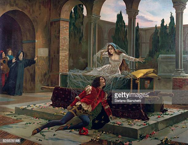 Scene from 'Romeo and Juliette' opera by Charles Gounod 1880 Private collection