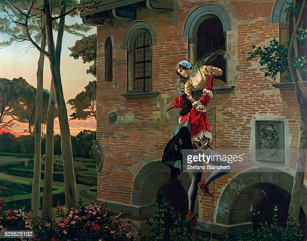 Scene from 'Romeo and Juliette' opera by Charles Gounod Circa 1880 Private collection