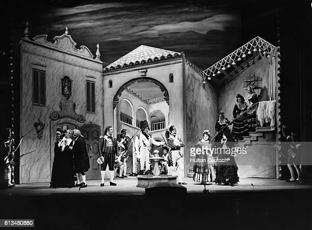 A scene from Rossini's The Barber of Seville at the 1954 Glyndebourne Festival Composer Gioacchino Rossini