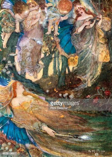 Scene from Shakespeare's A Midsummer Night's Dream 'Titania Sleeps' from Act II scene 2