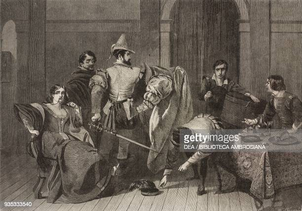 Scene from Taming of the Shrew by William Shakespeare engraving from a painting by Charles Robert Leslie illustration from the magazine The...