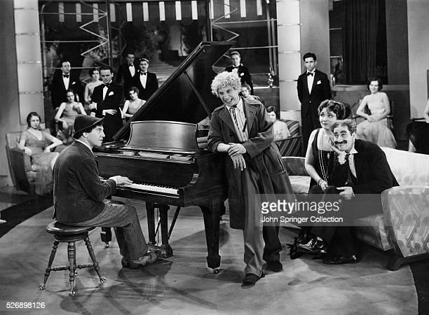 A scene from the 1930 film Canimal Crackers The Marx Brothers act in a scene from Animal Crackers Chico Marx portraying Emanual Ravelli plays the...