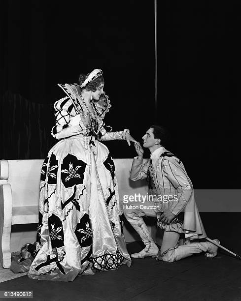 A scene from the 1932 production of Shakespeare's Twelfth Night at the Old Vic with Phyllis JerryNeilson as Olivia and Godfrey Kenton as Sebastian