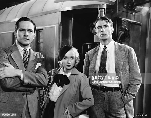A scene from the 1933 motion picture Design for Living Fredric March as playwright Tom Chambers Miriam Hopkins as Gilda and Gary Cooper as painter...