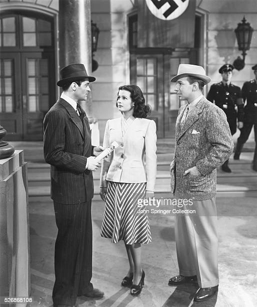 A scene from the 1940 film The Man I Married starring actress Joan Bennett as Carol Hoffman actor Francis Lederer as Eric Hoffman and actor Lloyd...
