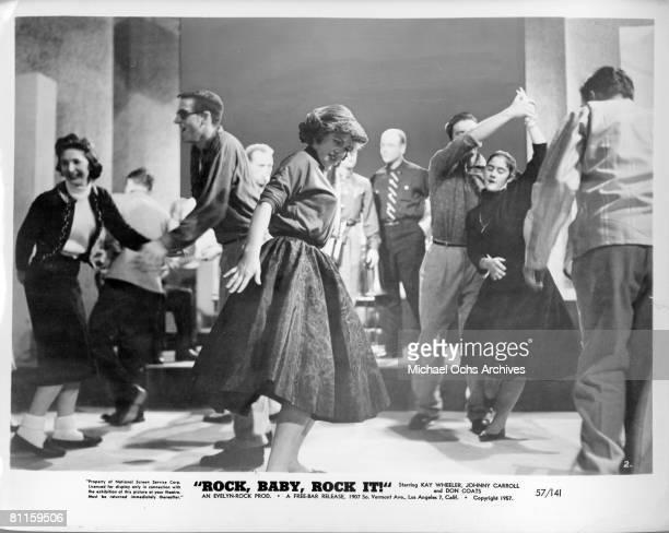 A scene from the 1957 Rock 'N' Roll movie Rock Baby Rock It