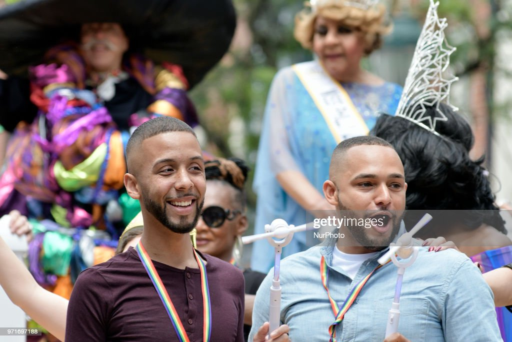 Scene from the 30th annual Pride Parade and Festival, celebrating the LGTBQ community, in Philadelphia, PA, on June 10, 2018.
