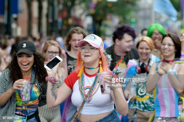 Scene from the 30th annual Pride Parade and Festival celebrating the LGTBQ community in Philadelphia PA on June 10 2018