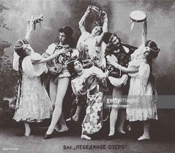 Scene from the Ballet Swan Lake, Mariinsky Theatre. 1895. Found in the collection of Bolshoi Theatre Museum.