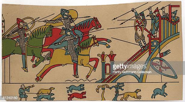 1066 A scene from the Bayeux tapestry depicting the Norman Conquest of Britain in 1066