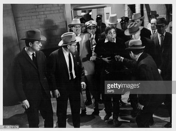 A scene from the BBC play of the month a staging of the shooting of John F Kennedy and Lee Harvey Oswald February 3rd 1966