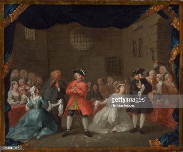 Scene from The Beggar's Opera, 1728/1729. Artist William Hogarth. .