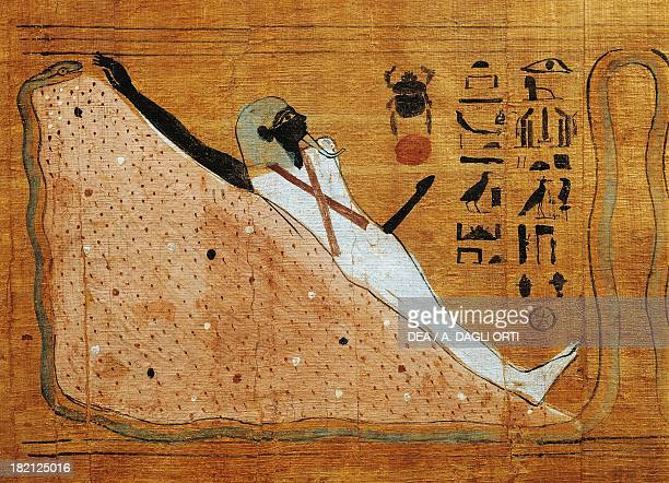 Scene from the Book of the Dead Heruben Papyrus Egyptian Civilisation Third Intermediate Period Dynasty XXI Cairo Egyptian Museum