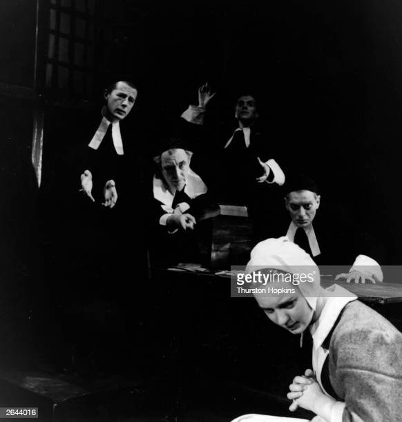 A scene from the Bristol Old Vic's production of 'The Crucible' starring Betty Prosser Original Publication Picture Post 7840 The Crucible unpub