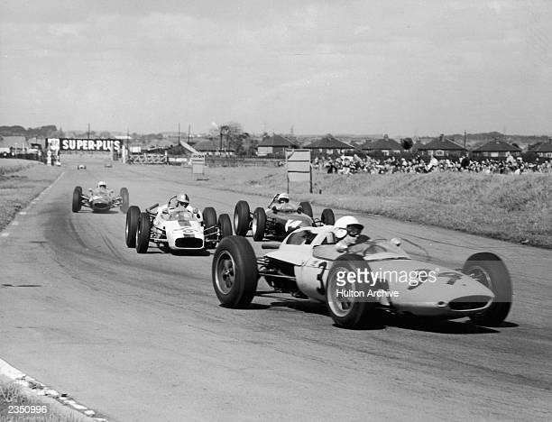 A scene from the British Grand Prix at Aintree 23rd July 1962