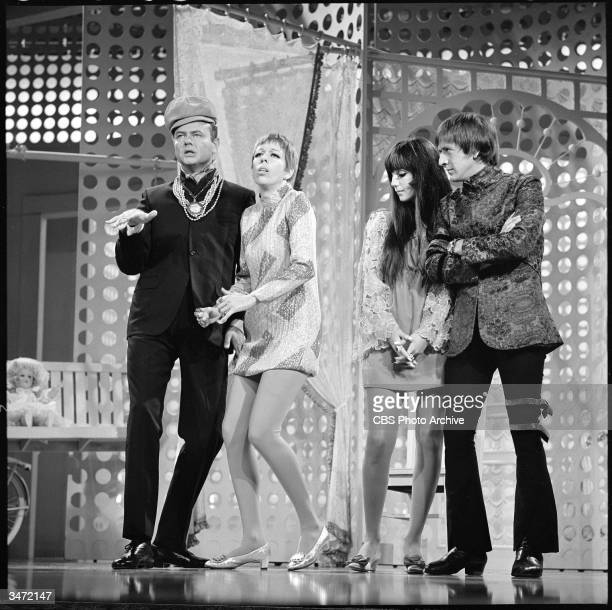 A scene from 'The Carol Burnett Show' features American comedien and actor Harvey Korman American comedienne and actress Carol Burnett and American...