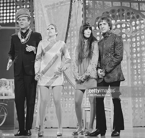 Scene from 'The Carol Burnett Show' features American comedien and actor Harvey Korman, American comedienne and actress Carol Burnett, and American...