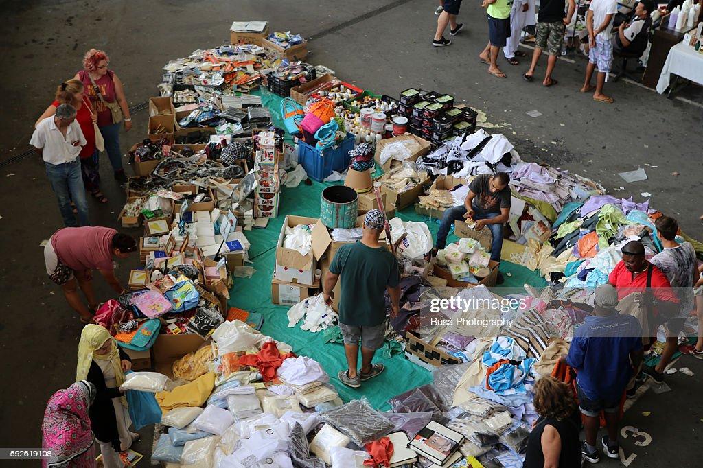 Scene from the els encants vells the largest flea market - Encantes barcelona ...