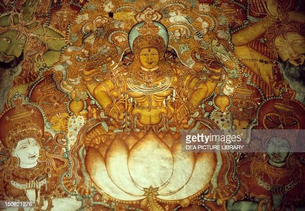 Scene from the epic poem Ramayana Mattancherry Palace fresco Cochin India Indian civilization