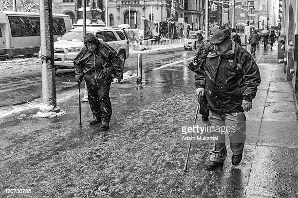 Scene from the ferocious snow blizzard that covered New York City and tested the will of morning commuters. Leica Monochrom, 35mm summilux aspherical...